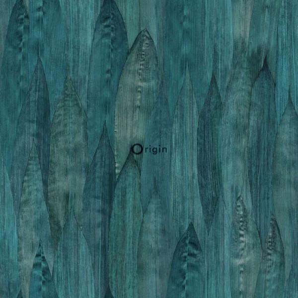 347368 eco texture non-woven wallpaper leaf sea green
