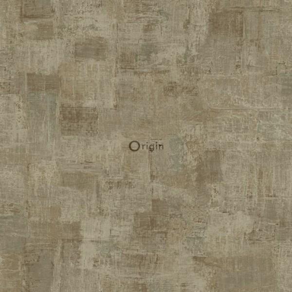347385 silk printed non-woven wallpaper paint texture light brown