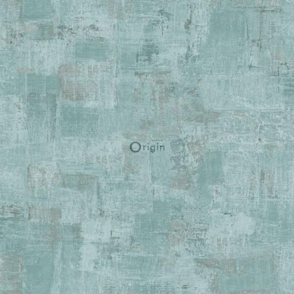 347387 silk printed non-woven wallpaper paint texture lagoon green
