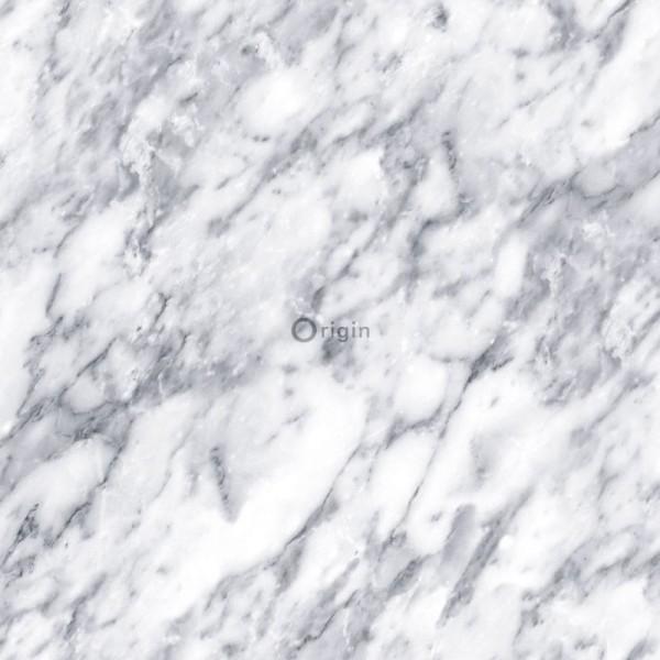 347388 silk printed non-woven wallpaper marble dark ivory white