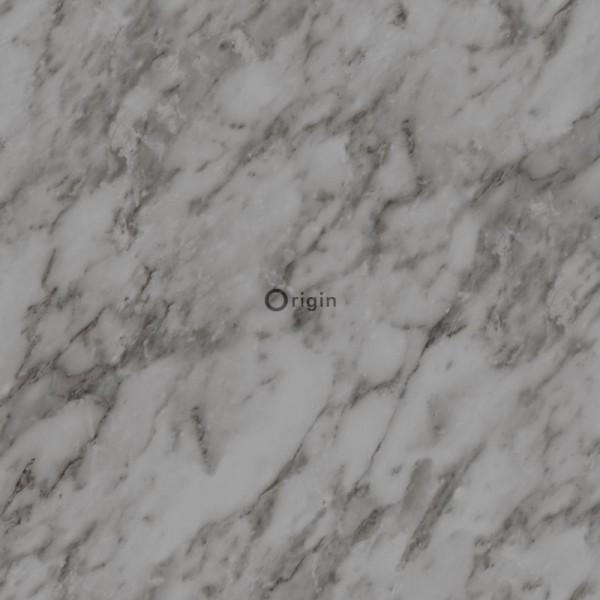 347391 silk printed non-woven wallpaper marble grey