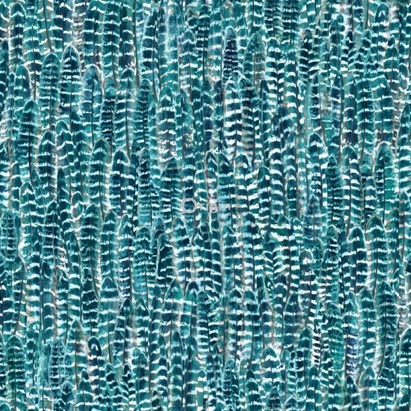 347393 silk printed eco texture non-woven wallpaper feather sea green