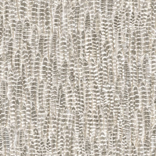 347394 silk printed eco texture non-woven wallpaper feather light brown