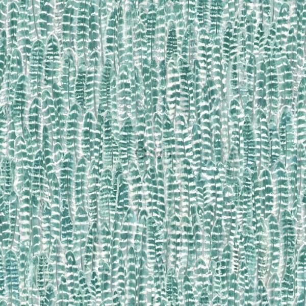 347396 silk printed eco texture non-woven wallpaper feather lagoon green