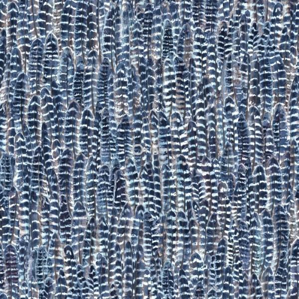 347397 silk printed eco texture non-woven wallpaper feather blue