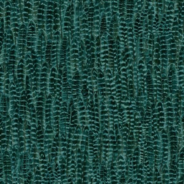 347399 silk printed eco texture non-woven wallpaper feather emerald green