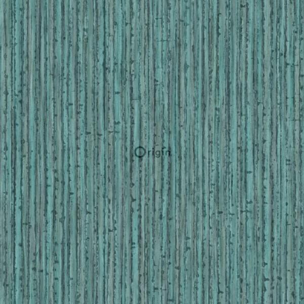 347402 silk printed eco texture non-woven wallpaper bamboo sea green