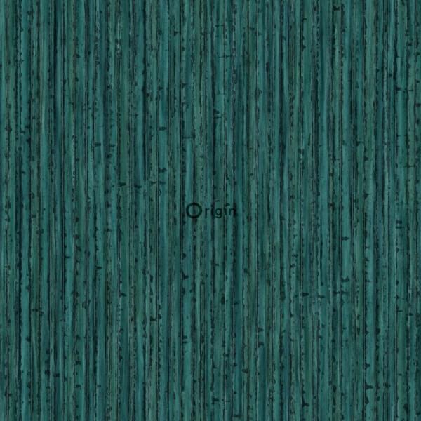 347403 silk printed eco texture non-woven wallpaper bamboo emerald green