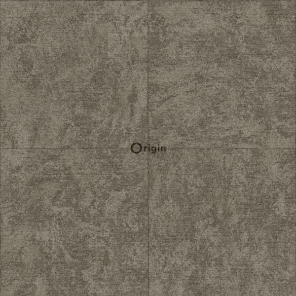 347411 silk printed eco texture non-woven wallpaper stone brown