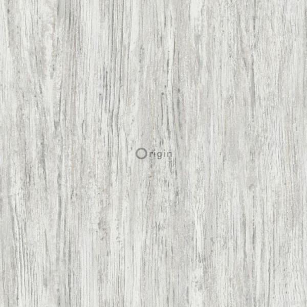 347414 silk printed eco texture non-woven wallpaper wood dark ivory white
