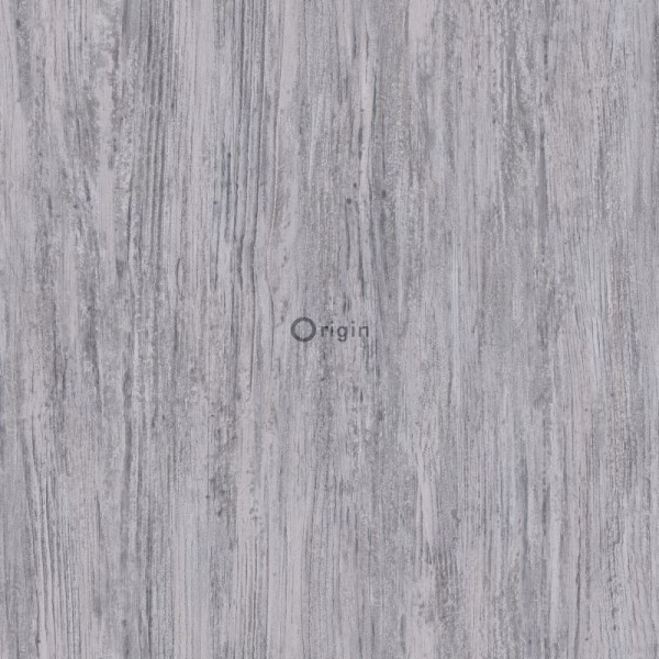 347417 silk printed eco texture non-woven wallpaper wood grey
