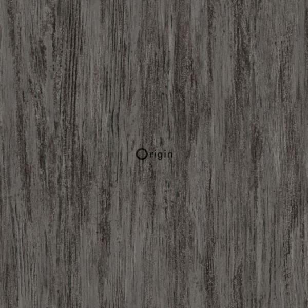 347419 silk printed eco texture non-woven wallpaper wood dark grey