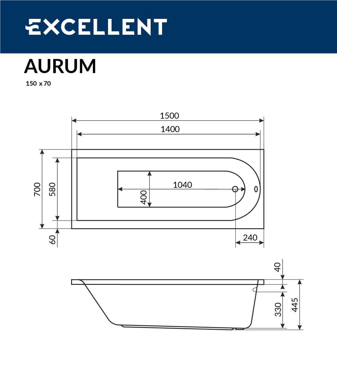 aurum 150x70