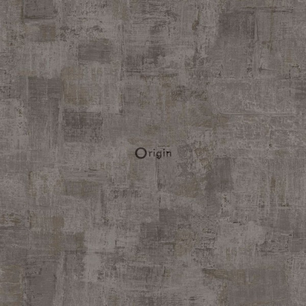 347386 silk printed non-woven wallpaper paint texture dark taupe
