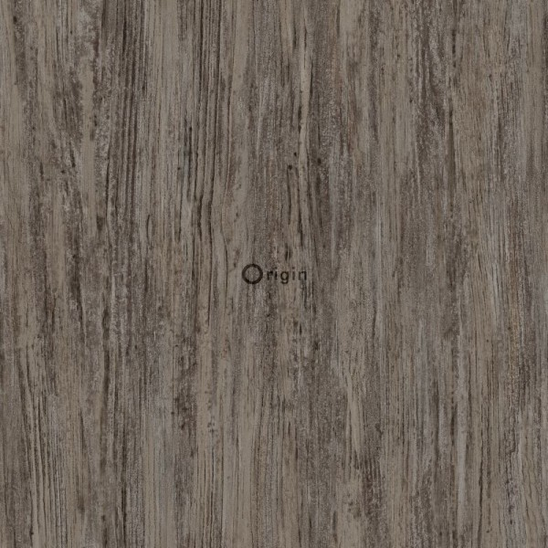 347418 silk printed eco texture non-woven wallpaper wood dark taupe