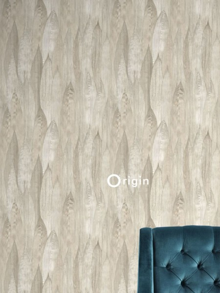 347371 eco texture non-woven wallpaper leaf sand beige